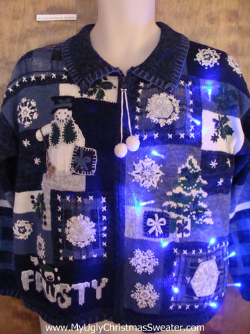 Frost the Snowman Light Up Cheesy Christmas Sweater