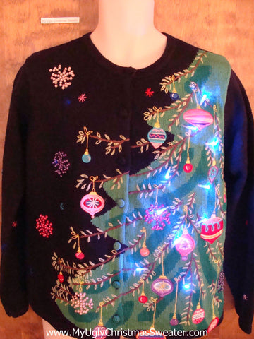 Best Festive Tree Light Up Cheesy Christmas Sweater