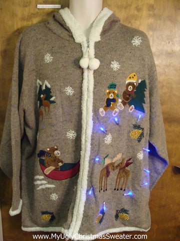 Light Up Cheesy Christmas Sweater HOODIE