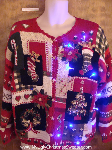 Horrible Mess Light Up Cheesy Christmas Sweater