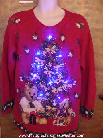 BEST Light Up 80s Tacky Christmas Jumper