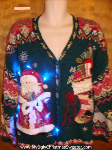 Ornate 80s Light Up Tacky Christmas Jumper