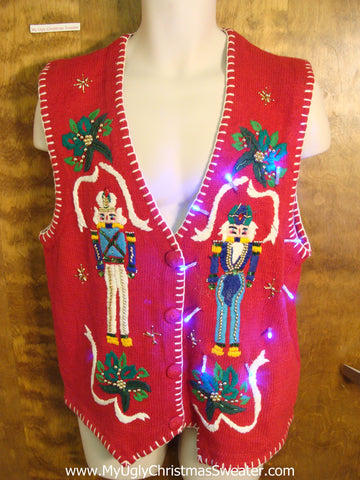 Light Up Cheesy Christmas Sweater Vest
