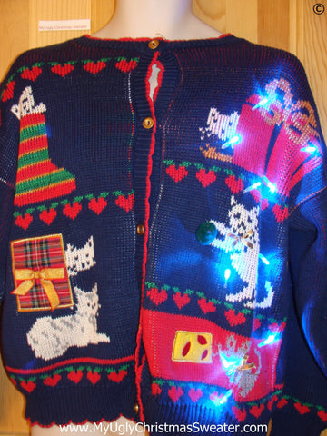 Cats and Gifts Christmas Sweater with Lights (g260)