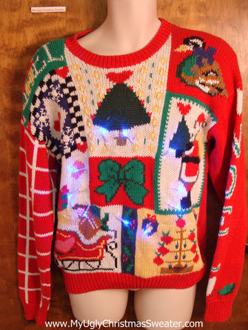 Light Up Ugly Xmas Sweater