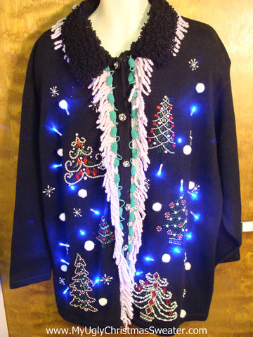 Light Up Ugly Xmas Sweater Big Size