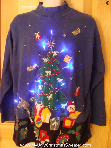 Christmas Sweater with Tree and Lights (g272)