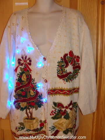 Funny Christmas Sweater with Lights Wm Mens XXL