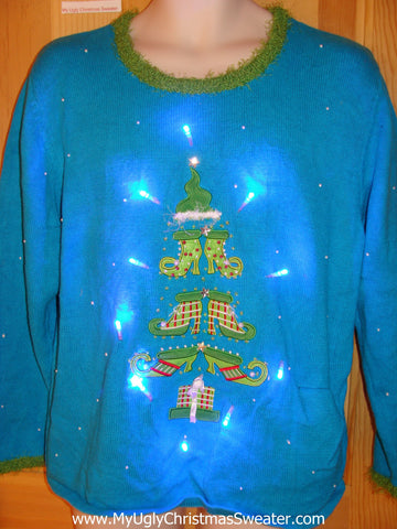 Shoe Tree Funny Light Up Christmas Sweater