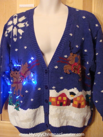 Reindeer Funny Light Up Christmas Sweater
