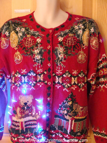 Two Sided 80s Light Up Ugly Christmas Sweater