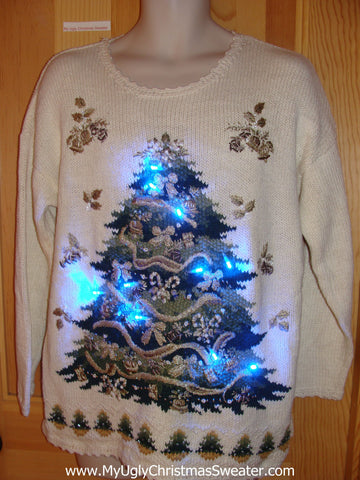 80s Style Light Up Ugly Christmas Sweater