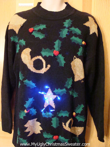 80s Horrible Light Up Ugly Christmas Sweater