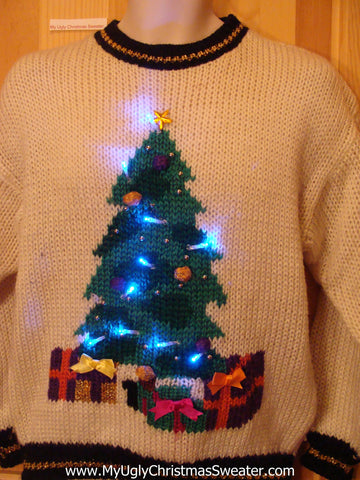 80s Light Up Ugly Christmas Sweater Tree
