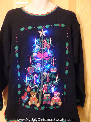 Colorful Light Up Ugly Christmas Sweater