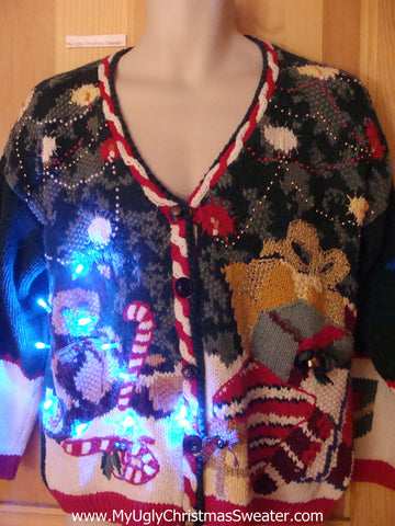 Toys Bear Light Up Ugly Christmas Sweater