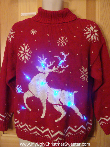 Vintage 80s Light Up Christmas Sweater