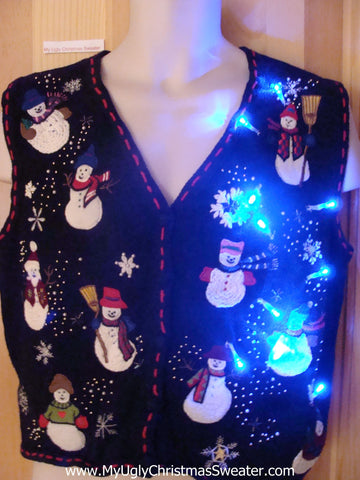 Snowman Light Up Christmas Sweater Vest