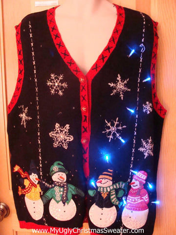 Light Up Christmas Sweater Vest Wm Mens XXL