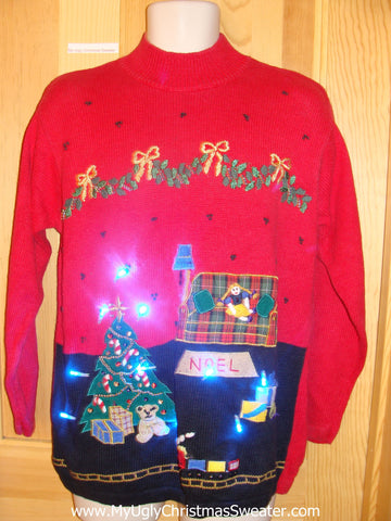 Light Up Christmas Sweater Toy Train, Tree