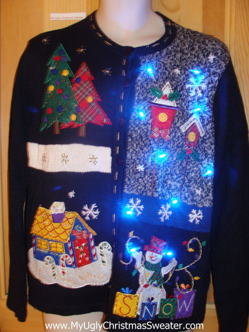 Birdhouse Themed Light Up Christmas Sweater