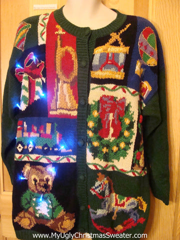 Holy Grail of Ugly Light Up Christmas Sweater