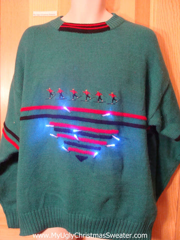 Ski Mens Light Up Christmas Sweater