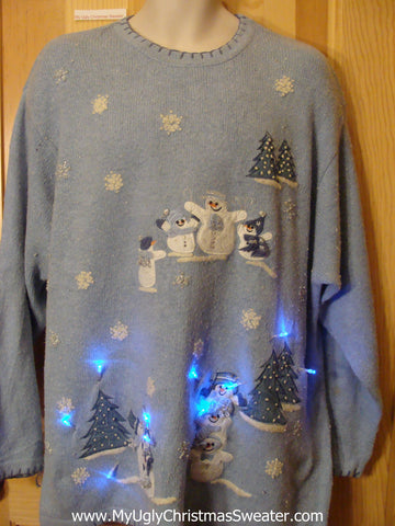 Light Up Christmas Sweater Wm or Mens XXL