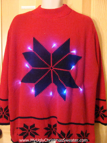 Light Up Christmas Sweater Wm or Mens XXL or XXXL