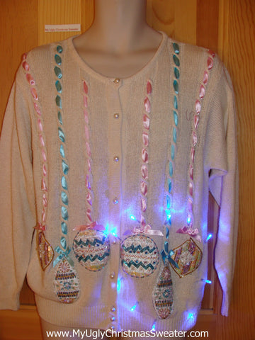 Need to Buy Christmas Sweaters? Light Up Sweater Ribbons, Ornaments