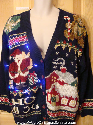 Need to Buy Christmas Sweaters? Light Up Sweater 80s Cardigan