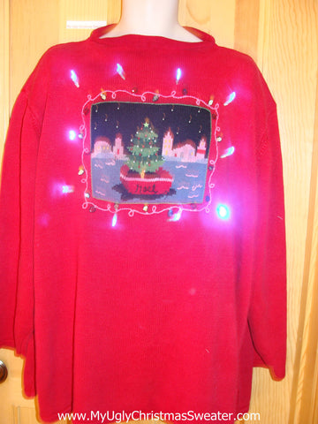 Need to Buy Christmas Sweaters? Nautical Light Up Sweater with NOEL Wm Mens XXXL