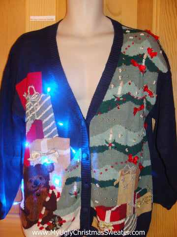 Need to Buy Christmas Sweaters? Light Up Sweater with Huge Tree, Bear