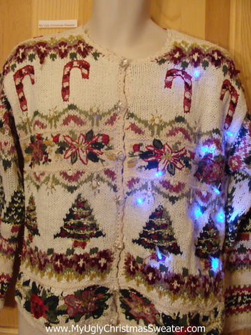 Need to Buy Christmas Sweaters? 80s 2Sided Cheesy Light Up Sweater