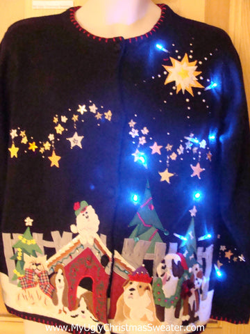 Need to Buy Christmas Sweaters? Dog House Light Up Sweater