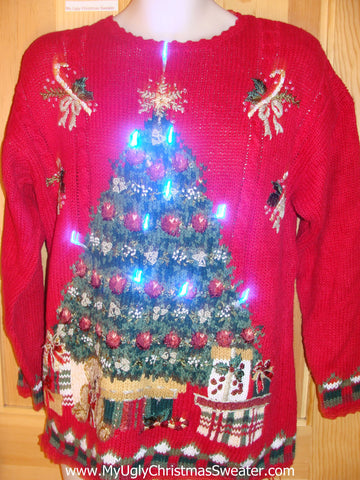 Need to Buy Christmas Sweaters? Horrible 80s Light Up Sweater Tree