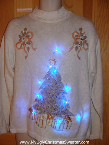Need to Buy Christmas Sweaters? Bling Tree Light Up Sweater