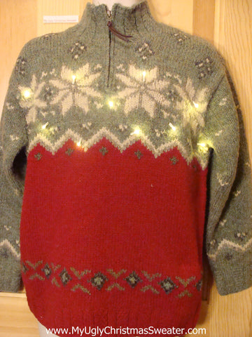 Need to Buy Christmas Sweaters? Vintage Light Up Ralph Lauren Nordic Sweater
