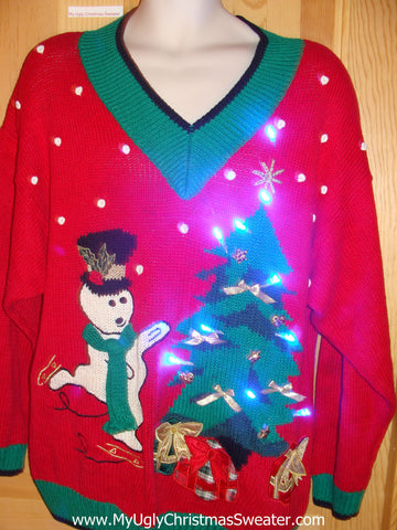 Holy Grail of Ugly Light Up Sweater Vintage 80s Pillsbury Dough Boy