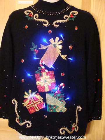 Need to Buy Christmas Sweaters? Light Up Sweater Tumbling Gifts with Bling