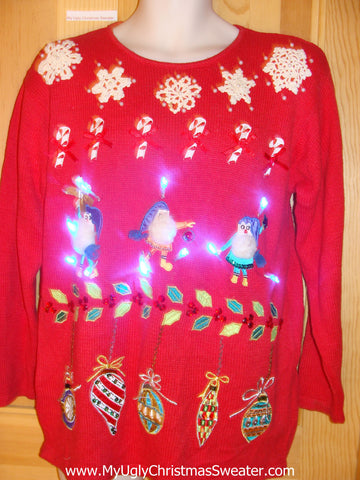 Need to Buy Christmas Sweaters? 80s Light Up Sweater Elves