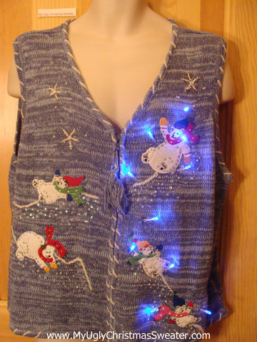 Need to Buy Christmas Sweaters? Light Up Sweater Vest with Bears