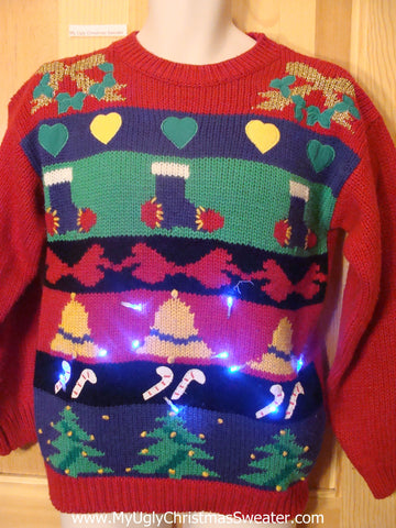 Vintage 80s Holy Grail of Ugly Light Up Sweater