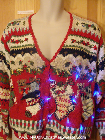 Need to Buy Christmas Sweaters? Horrible Stockings Light Up Sweater