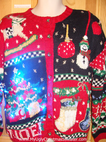 Need to Buy Christmas Sweaters? Horrible Festive Light Up Sweater with Horse