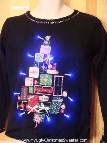 Tacky Light Up Christmas Sweater Bling Gifts Child or XXS Adult