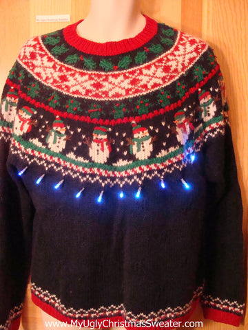 Light Up Ugly Xmas Sweater Nordic 2sided Designs