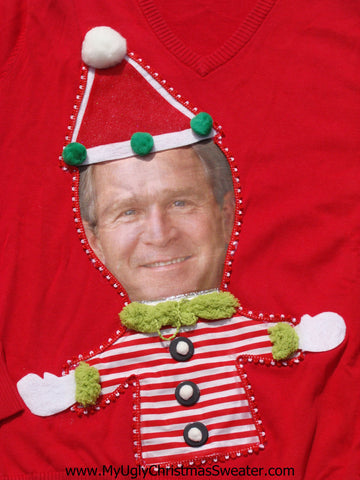 President George Bush Christmas Sweater