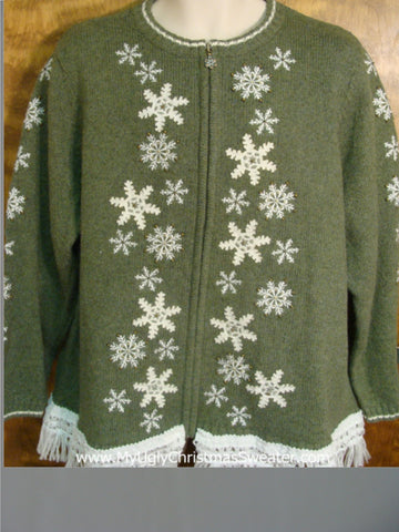 Festive Snowflakes Ugly Xmas Sweater