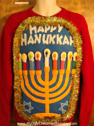 Hanukkah Sweater with Menorah